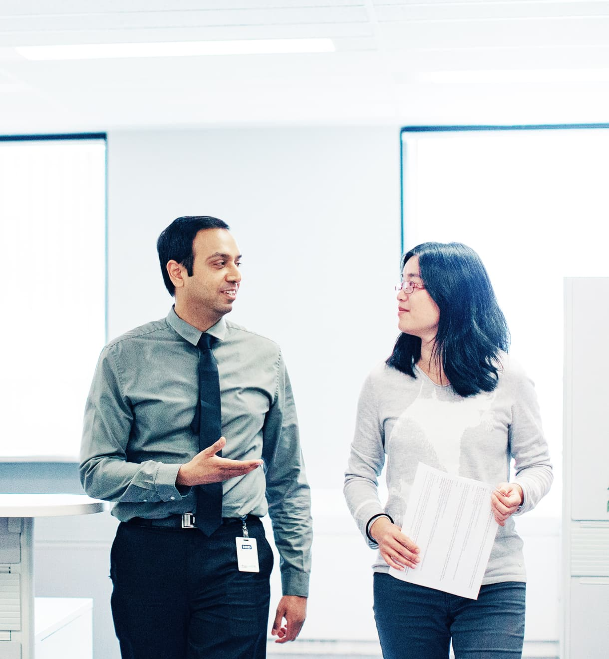Image of two HealthPRO employees in conversation